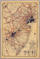 New Jersey 1927 Rand McNally - Old State Map Reprint