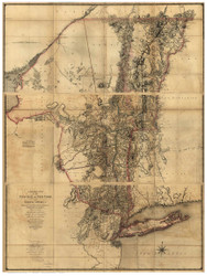 New York State 1779 Sauthier - Old State Map Reprint
