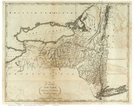 New York State 1795 Carey & Lewis - Old State Map Reprint