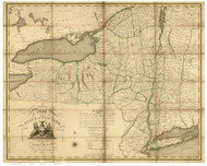New York State 1804 DeWitt - Old State Map Reprint