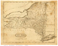 New York State 1812 Arrowsmith & Lewis - Old State Map Reprint