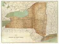 New York State 1895 Bien - Old State Map Reprint