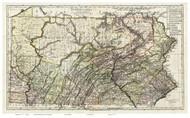Pennsylvania 1797 Sotzmann - Old State Map Reprint