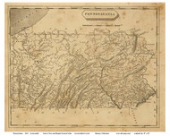 Pennsylvania 1812 Arrowsmith - Old State Map Reprint