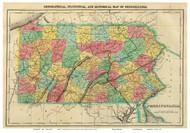 Pennsylvania 1822 Carey & Lea - Old State Map Reprint