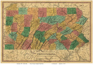 Pennsylvania 1829 Finley - Old State Map Reprint