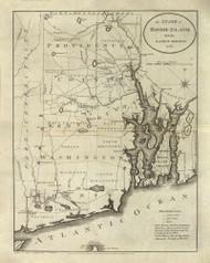 Rhode Island 1796 Reid - Old State Map Reprint