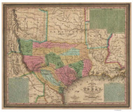 Texas 1835 Young - Old State Map Reprint