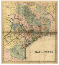 Texas 1840 Standidge & Co. - Old State Map Reprint