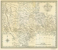 Texas 1841 Arrowsmith & Kennedy - Old State Map Reprint