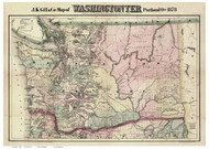 Washington Territory 1878 Gill - Old State Map Reprint