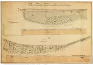 Potomac River Canal Proposal - Map 1 of 4 - ca. 1800 - Washington DC - Old Map Reprint DC Specials