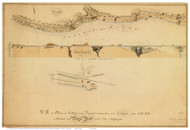 Potomac River Canal Proposal - Map 2 of 4 - ca. 1800 - Washington DC - Old Map Reprint DC Specials