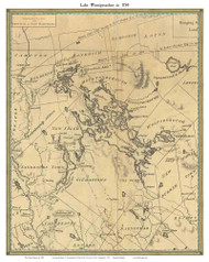 Lake Winnipesaukee, New Hampshire 1784 - Old Map Custom Print