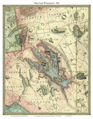 Lake Winnipesaukee, New Hampshire 1816 - Old Map Custom Print
