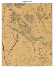 Lake Winnipesaukee, New Hampshire 1852 - Old Map Custom Print