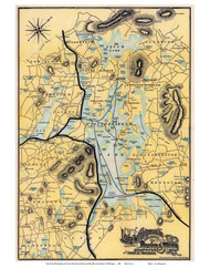 Lake Winnipesaukee, New Hampshire 1900 - Old Map Reprint