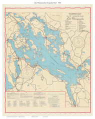 Lake Winnipesaukee, New Hampshire 1966 - Old Map Reprint