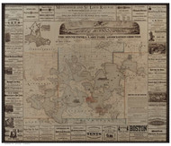 Lake Minnetonka Minnesota 1879 - Old Map Reprint