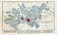 Lake Minnetonka Minnesota 1881 - Old Map Reprint