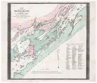 Thousand Islands 1875 - Rockwell - Old Map Reprint - NY Specials Lakes