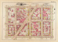 Plate 7, New Hampshire Ave. - Washington DC 1919 Atlas Old Map Reprint - Baist Vol.1