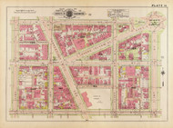 Plate 14, Scott Circle - Washington DC 1919 Atlas Old Map Reprint - Baist Vol.1