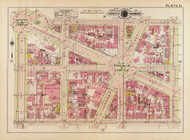 Plate 21, Thomas Circle - Washington DC 1919 Atlas Old Map Reprint - Baist Vol.1