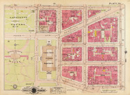 Plate 23, Lafayette Square - Washington DC 1919 Atlas Old Map Reprint - Baist Vol.1