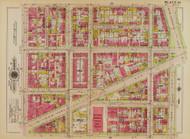 Plate 34, Northern Liberty Hall Market - Washington DC 1919 Atlas Old Map Reprint - Baist Vol.1