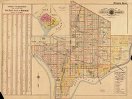 Plate 0, Vol.2 Index Map - Washington DC 1921 Atlas Old Map Reprint - Baist Vol.2