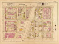 Plate 8, O St. Lumberyard - Washington DC 1921 Atlas Old Map Reprint - Baist Vol.2