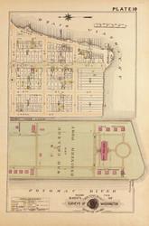 Plate 10, U.S. College and Engineer Post - Washington DC 1921 Atlas Old Map Reprint - Baist Vol.2