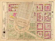 Plate 13, Union Depot - Washington DC 1921 Atlas Old Map Reprint - Baist Vol.2