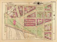 Plate 16, Folger Park - Washington DC 1921 Atlas Old Map Reprint - Baist Vol.2