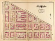 Plate 19, West Virginia Ave. - Washington DC 1921 Atlas Old Map Reprint - Baist Vol.2