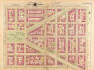 Plate 21, Stanton Square - Washington DC 1921 Atlas Old Map Reprint - Baist Vol.2