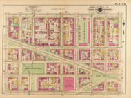 Plate 24, U.S. Marine Barracks - Washington DC 1921 Atlas Old Map Reprint - Baist Vol.2