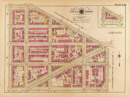 Plate 26, Linden Place - Washington DC 1921 Atlas Old Map Reprint - Baist Vol.2