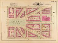 Plate 28, Lincoln Park - Washington DC 1921 Atlas Old Map Reprint - Baist Vol.2