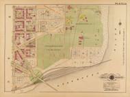Plate 33, Congressional Cemetery - Washington DC 1921 Atlas Old Map Reprint - Baist Vol.2