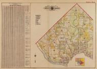 Plate 0, Vol.3 Index Map - Washington DC 1919 Atlas Old Map Reprint - Baist Vol.3