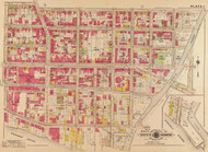 Plate 1, Wisconsin Ave. - Washington DC 1919 Atlas Old Map Reprint - Baist Vol.3