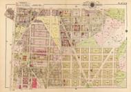 Plate 19, Jefferson St. - Washington DC 1919 Atlas Old Map Reprint - Baist Vol.3