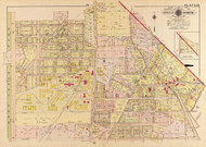 Plate 22, Takoma Park - Washington DC 1919 Atlas Old Map Reprint - Baist Vol.3