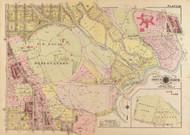 Plate 25, U.S. Naval Observatory - Washington DC 1919 Atlas Old Map Reprint - Baist Vol.3