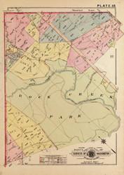 Plate 35, Rock Creek Park Closeup - Washington DC 1919 Atlas Old Map Reprint - Baist Vol.3