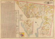 Plate 0, Vol.4 Index Map - Washington DC 1921 Atlas Old Map Reprint - Baist Vol.4