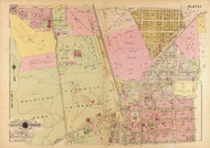 Plate 7, Catholic University - Washington DC 1921 Atlas Old Map Reprint - Baist Vol.4