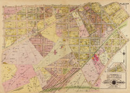 Plate 10, Loomis Park - Washington DC 1921 Atlas Old Map Reprint - Baist Vol.4